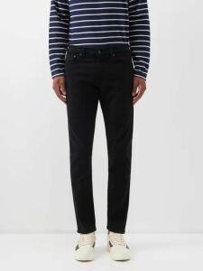 Marrakshi Life - Striped Cotton Blend Trousers - Mens - Blue Beige