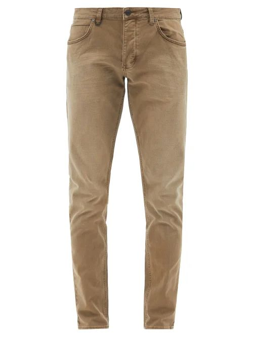 Marrakshi Life - Mid Rise Cotton Blend Tapered Trousers - Mens - Navy