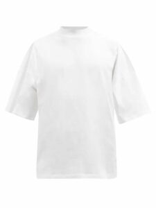Fear Of God - Leather Panelled Cotton Trousers - Mens - Black