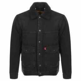 Levis Sherpa Trucker Jacket Black