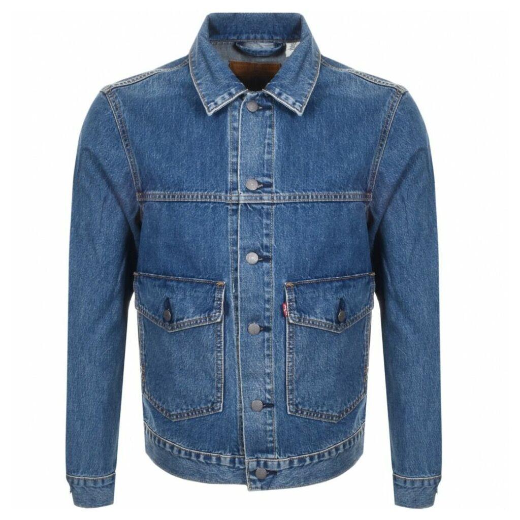 Levis Denim Trucker Jacket Blue