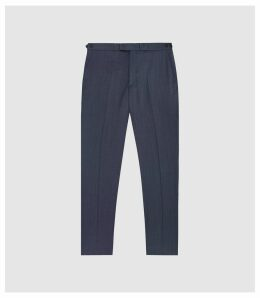 Reiss Shark - Modern Fit Tailored Trousers in Airforce Blue, Mens, Size 38
