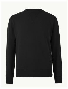 M&S Collection Pure Cotton Crew Neck Sweatshirt