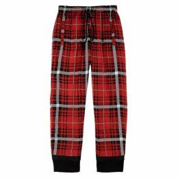 FourTwoFour Red Plaid Silk Sweatpants