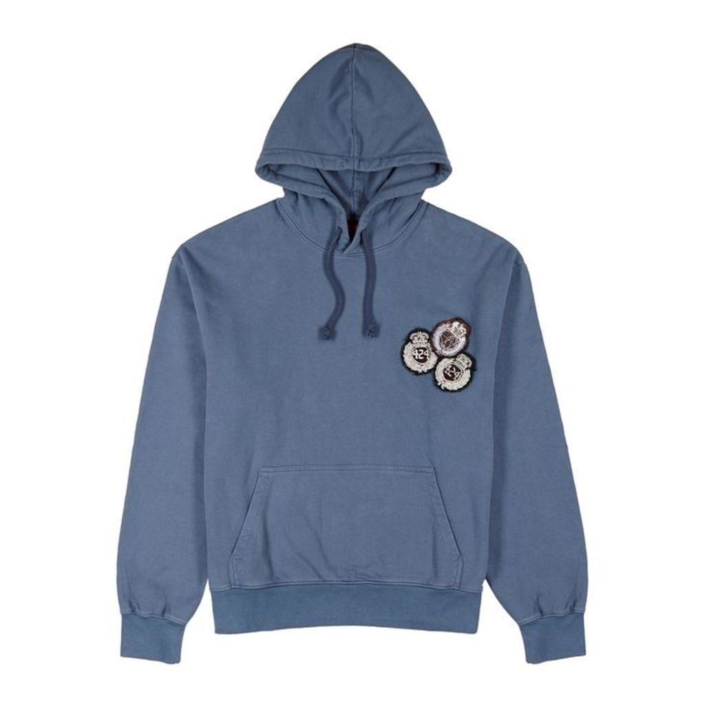 FourTwoFour Academy Hooded Cotton Sweatshirt
