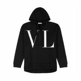 Valentino VLTN-print Hooded Jersey Sweatshirt
