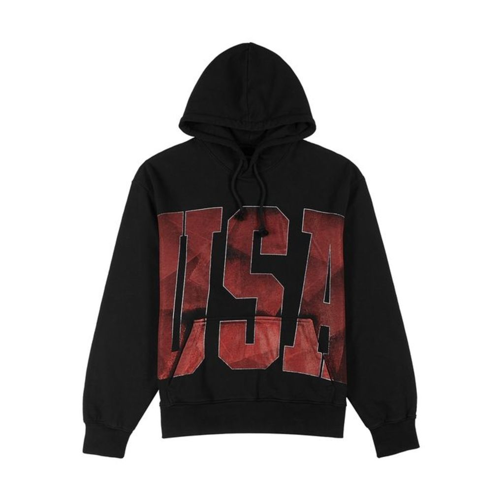 FourTwoFour USA Hooded Cotton Sweatshirt