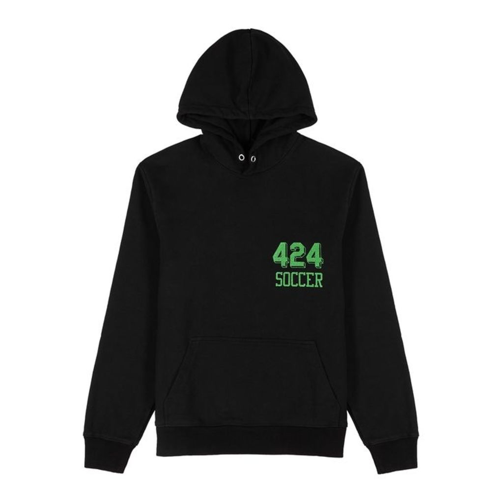 FourTwoFour Soccer Hooded Cotton Sweatshirt