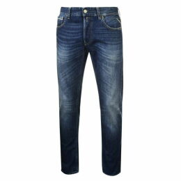 Replay Grover Slim Jeans Mens - Blue