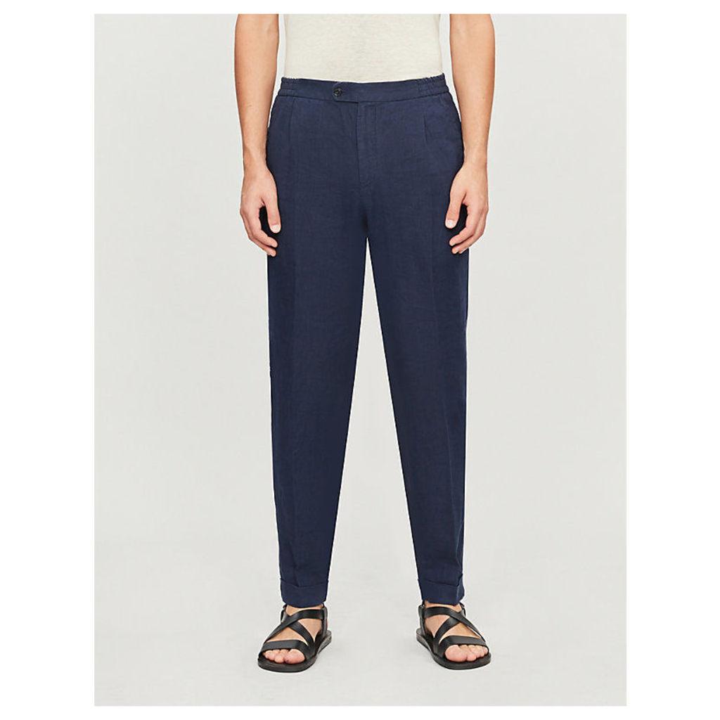 Dyron straight linen trousers