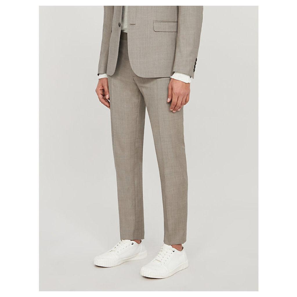 Slim-fit wool trousers