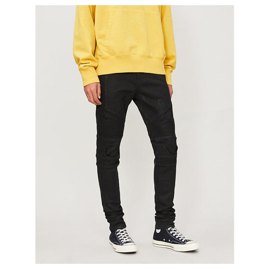 Biker tapered jeans