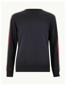 M&S Collection Pure Cotton Crew Neck Sweatshirt
