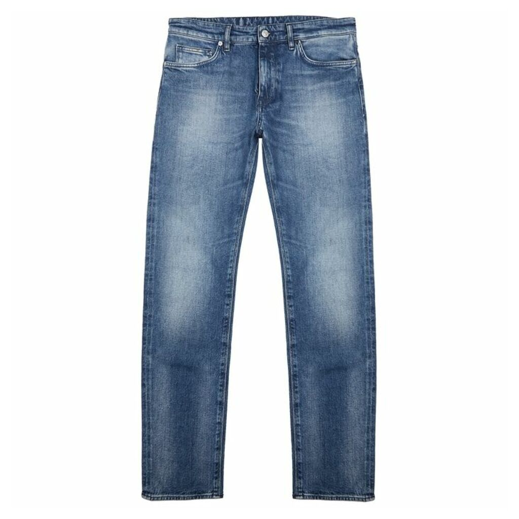 HUGO Maine Blue Straight-leg Jeans