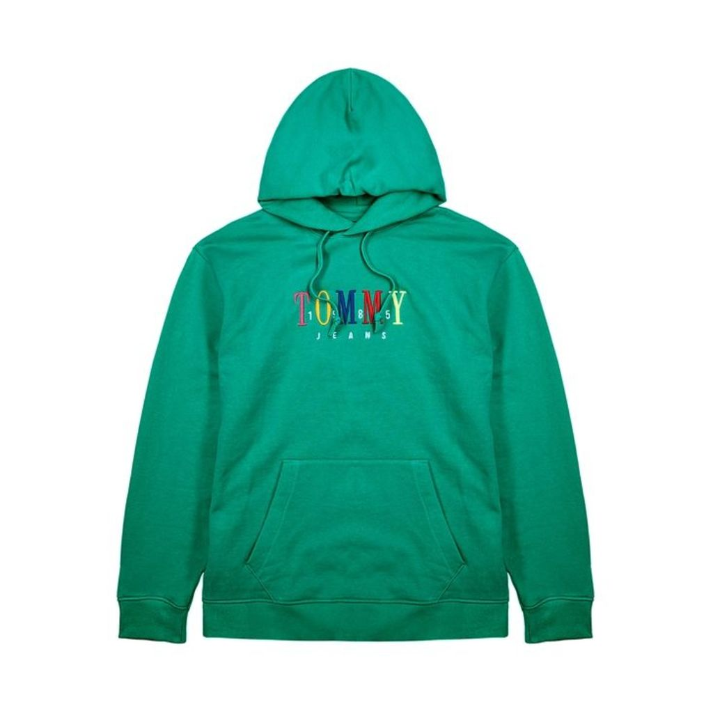 Tommy Jeans Logo-embroidered Hooded Cotton Sweatshirt