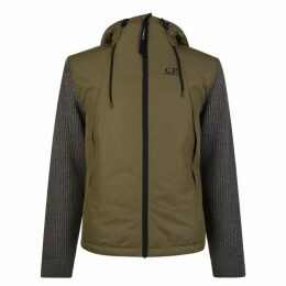 CP Company Knit Panel Hooded Jacket