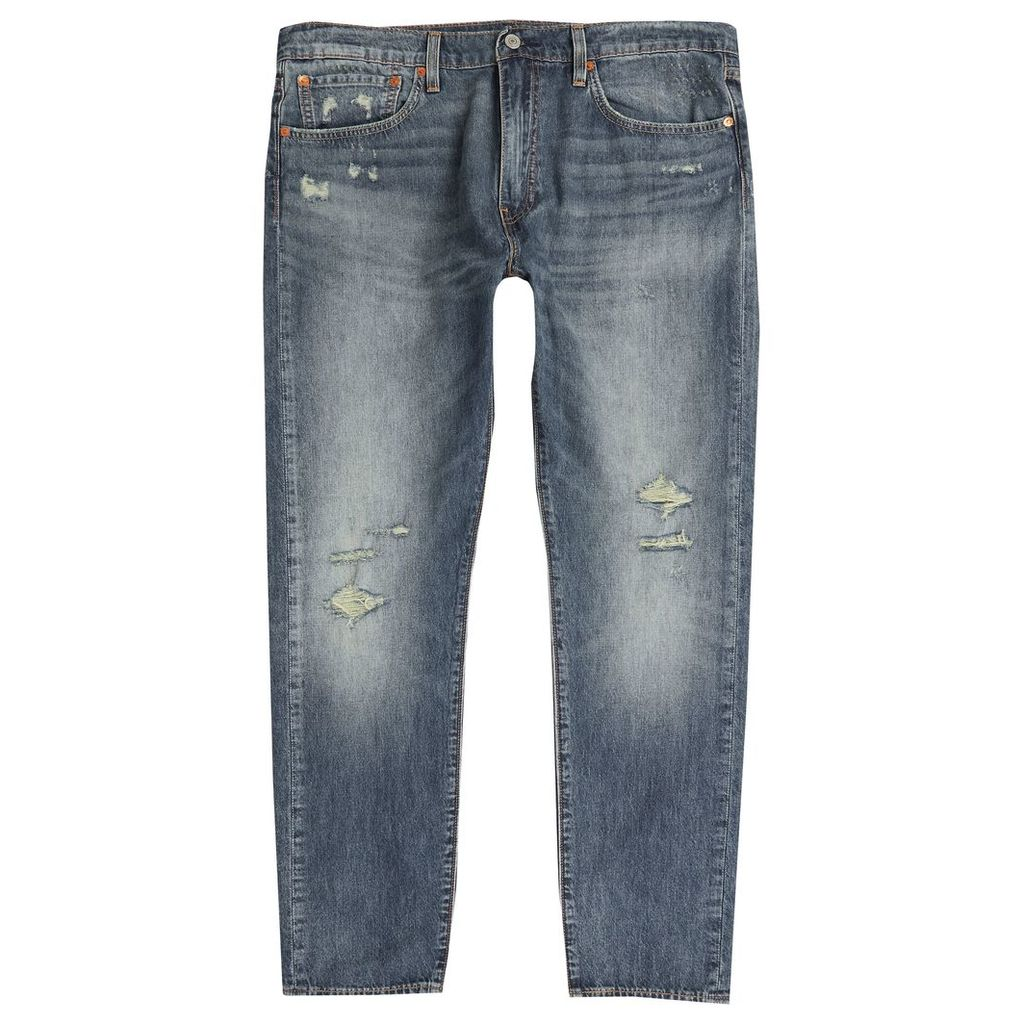 Mens Levi's Blue 512 slim tapered ripped jeans