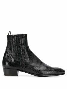 Lidfort leather boots - Black