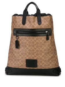 Coach Academy drawstring backpack - Brown