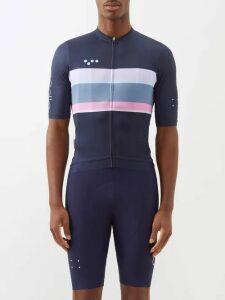 Givenchy - Logo Print Cotton Hooded Sweatshirt - Mens - Light Blue