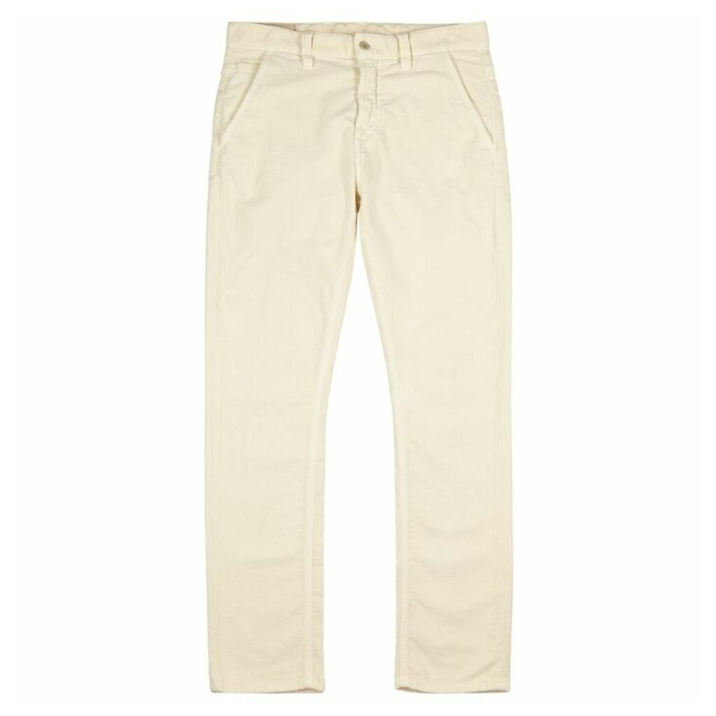 Nudie Jeans Adam Cream Corduroy Trousers
