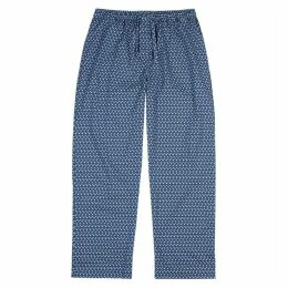 Derek Rose Blue Geometric Trousers