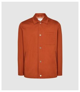Reiss Heart - Coach Jacket in Rust, Mens, Size XXL