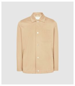 Reiss Heart - Coach Jacket in Apricot, Mens, Size XXL