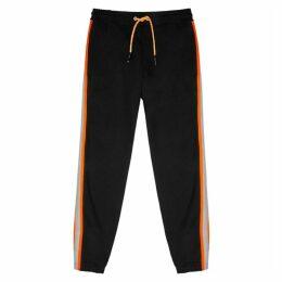 McQ Alexander McQueen Black Reflective Cotton-blend Sweatpants