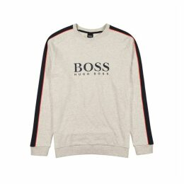 HUGO Stone Logo Cotton Sweatshirt