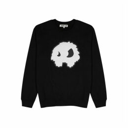 McQ Alexander McQueen Black Monster-embossed Cotton Sweatshirt