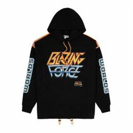 McQ Alexander McQueen Blazing Force Hooded Cotton-blend Sweatshirt