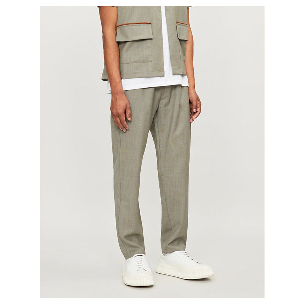 Slim-fit tapered woven jogging bottoms