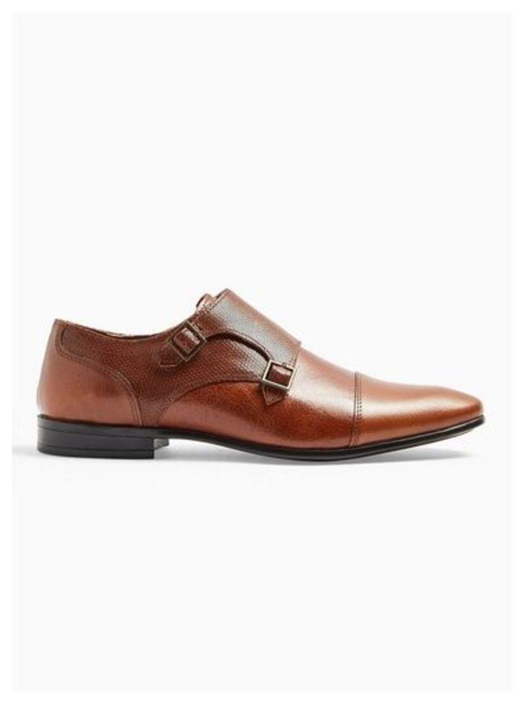 Mens Brown Tan Bryant Monk Shoes, Brown