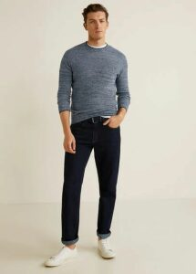 Flecked structure cotton sweater