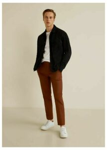 Slim fit cropped chino trousers