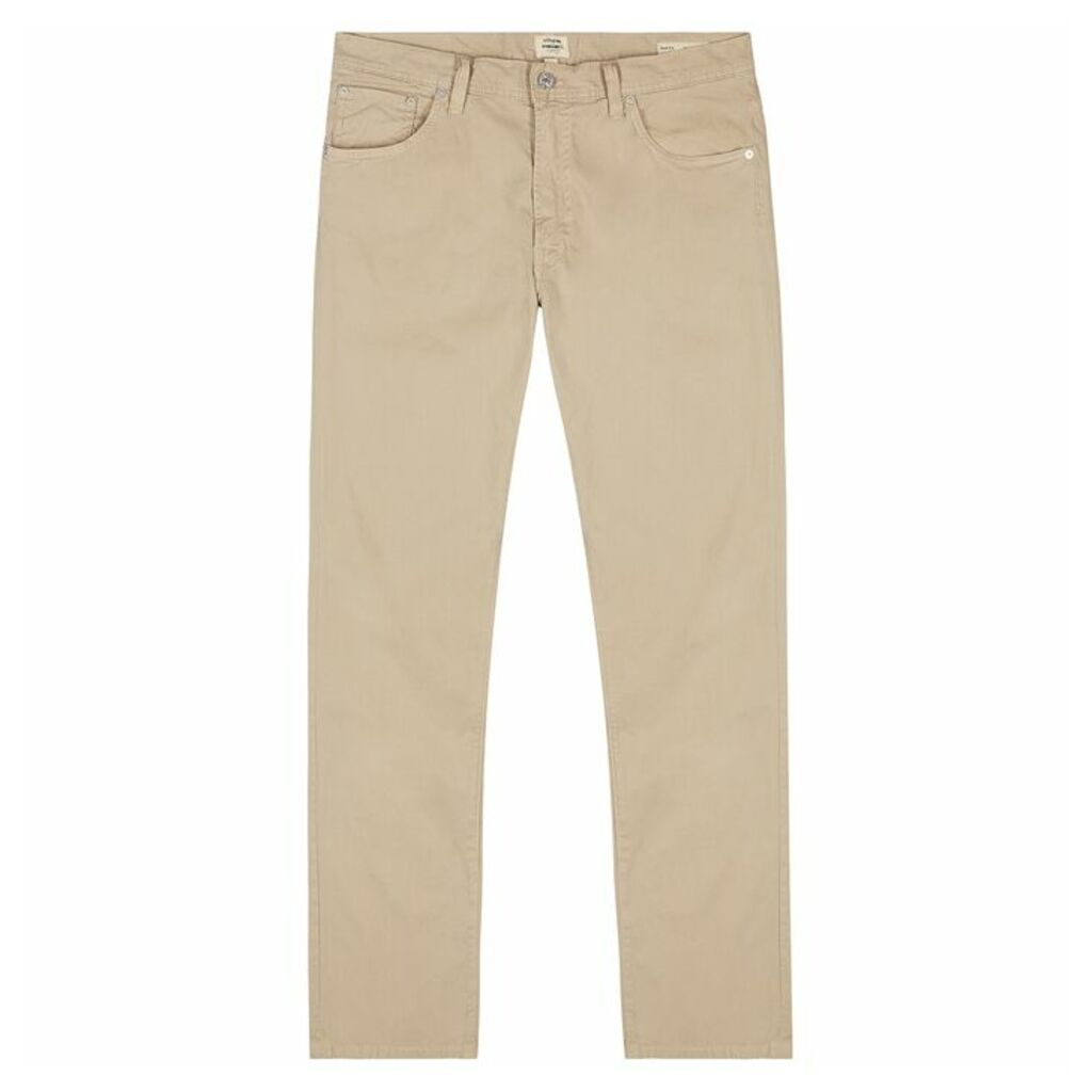 Citizens Of Humanity Bowery Sand Stretch-cotton Trousers