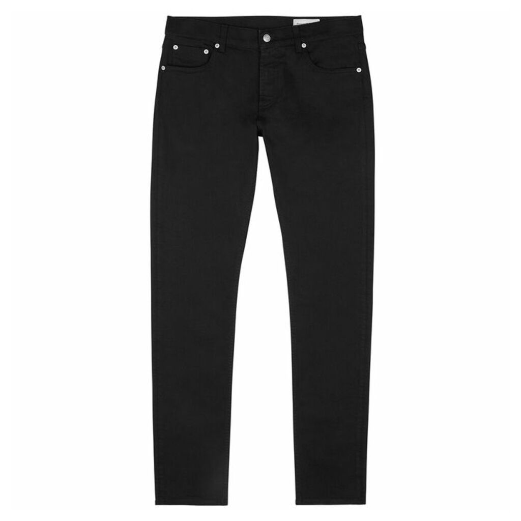 Alexander McQueen Black Embroidered Skinny Jeans