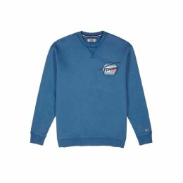 Tommy Jeans Blue Printed Cotton Sweatshirt