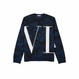 Valentino VLTN Camouflage-print Cotton-blend Sweatshirt
