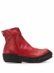 Guidi front zip boots - Red