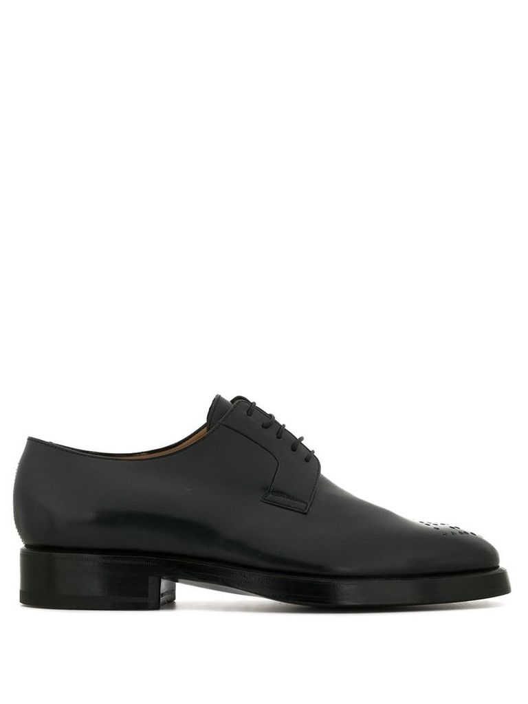 Namacheko perforated detail derby shoes - Blue