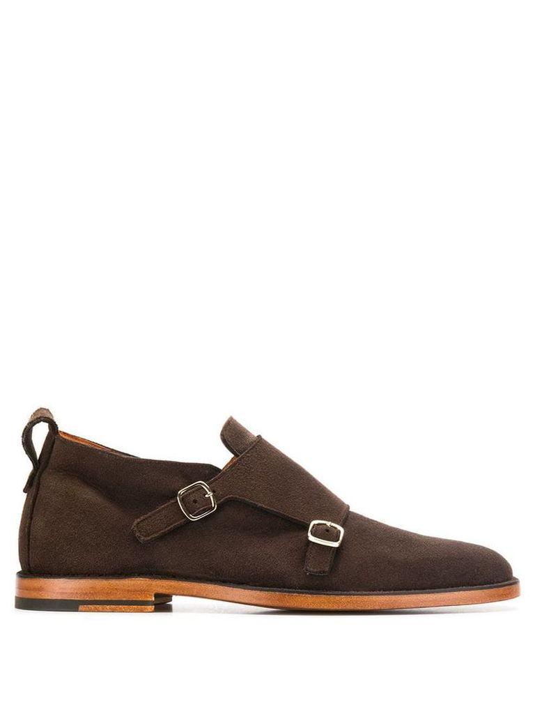 Santoni buckled monk shoes - Brown