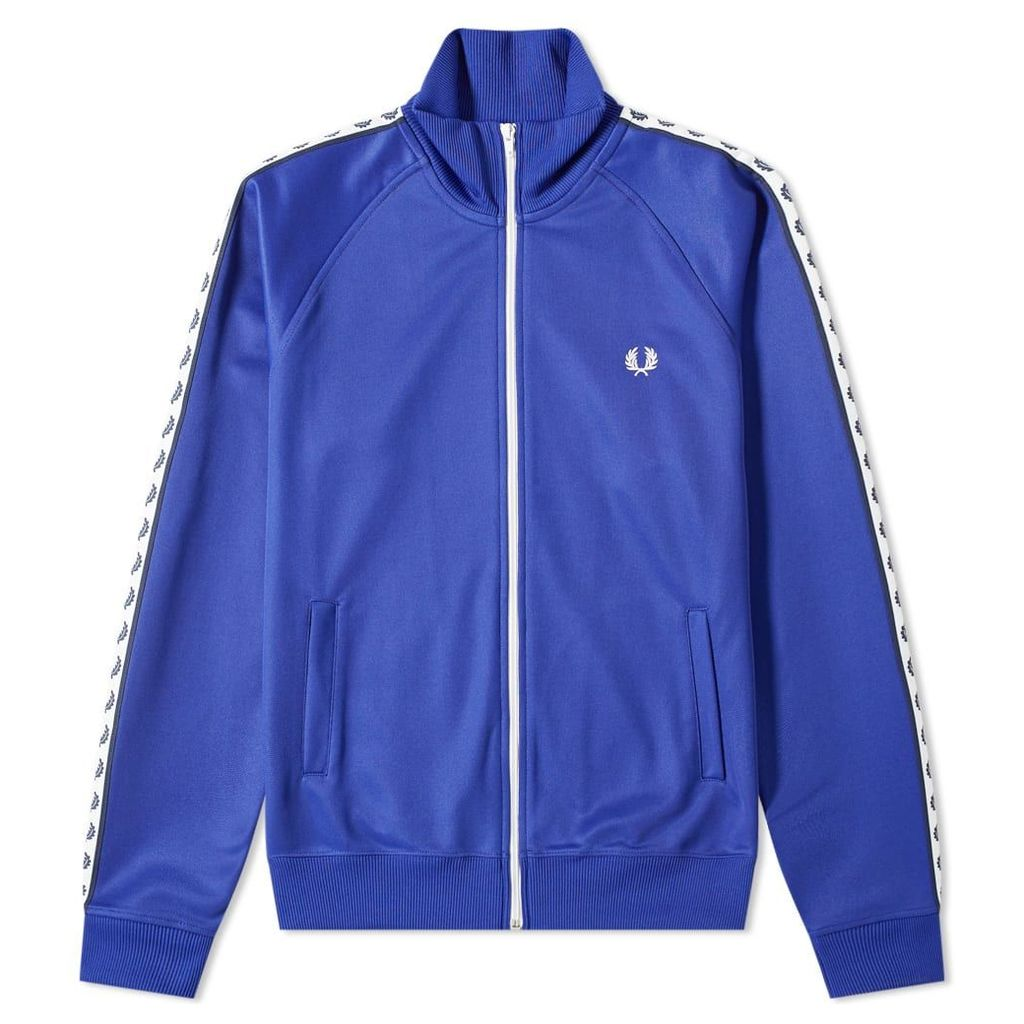 Fred Perry Authentic Taped Track Jacket Rich Blue