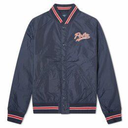 Polo Ralph Lauren Nylon Popover P Varsity Jacket Aviator Navy