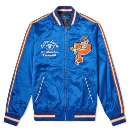 Polo Ralph Lauren Washed Satin Souvenir Jacket Sistine Blue
