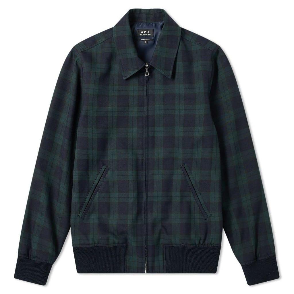 A.P.C. Check Harrington Jacket Check