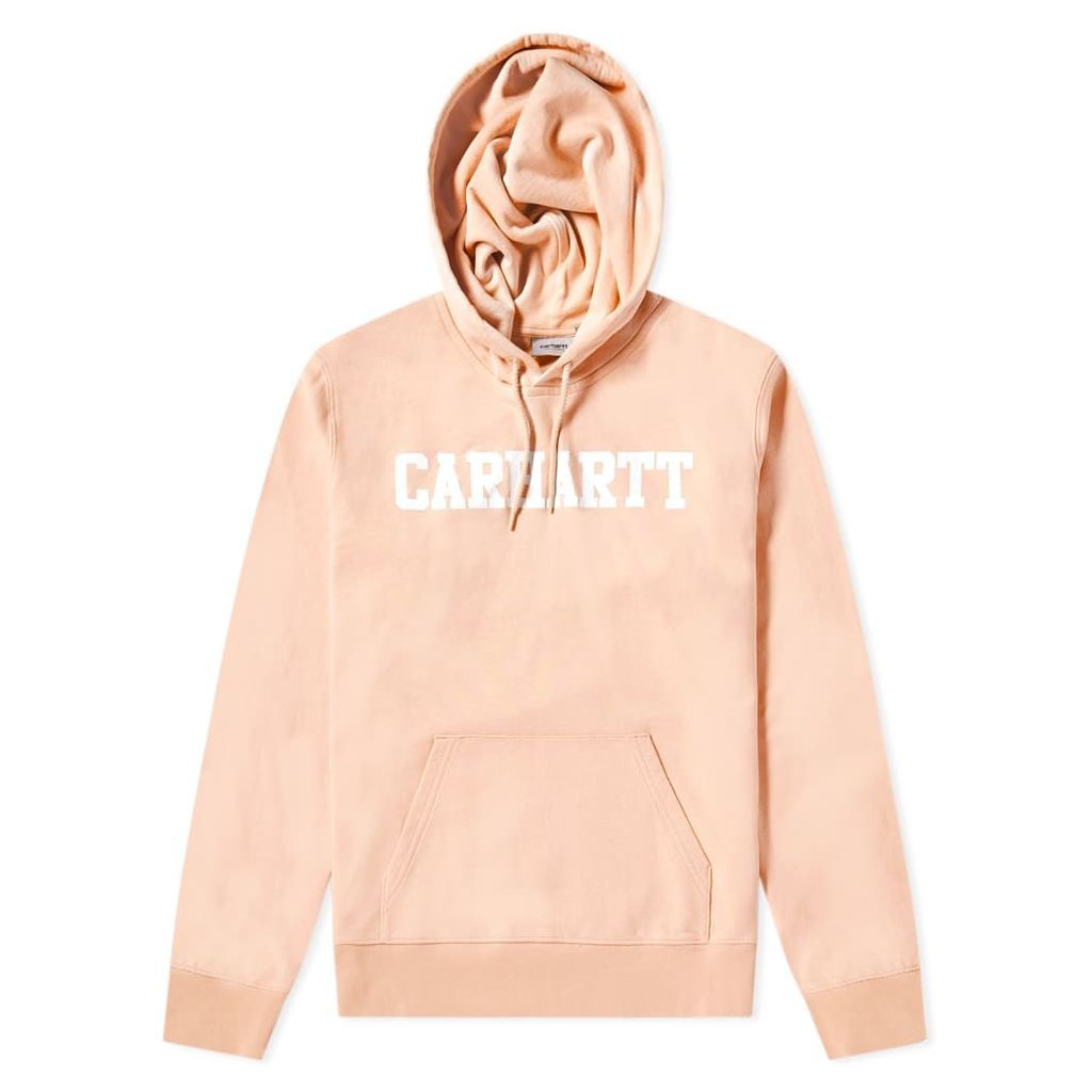 Carhartt Hooded College Sweat Peach & White