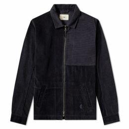 Folk Twill Fraction Harrington Jacket Charcoal