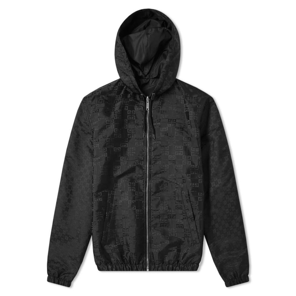 Givenchy 4G Jacquard Hooded Reversible Windbreaker Black